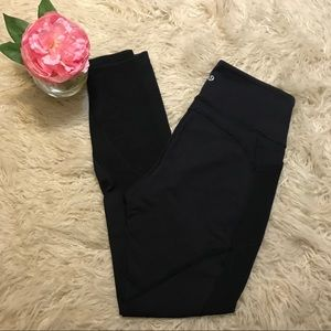 Lululemon Black mesh Panel Black Legging